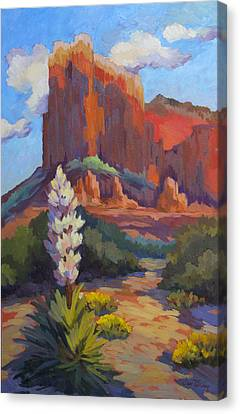 Yucca At Sedona Canvas Print by Diane McClary