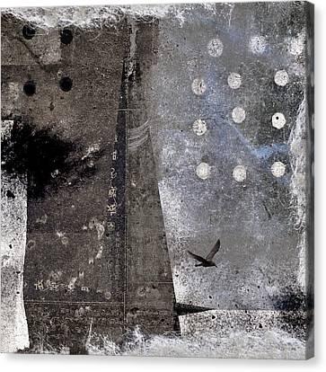 Yuki Desu  It Is Snowing Canvas Print by Carol Leigh