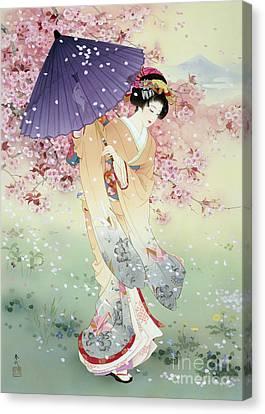 Yumezakura Canvas Print by Haruyo Morita