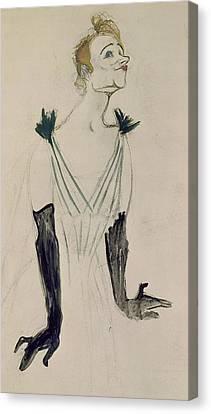 Yvette Guilbert  Canvas Print by Henri de Toulouse-Lautrec