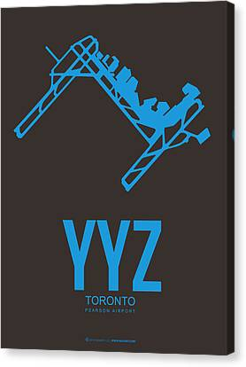 Yyz Toronto Airport Poster 2 Canvas Print by Naxart Studio