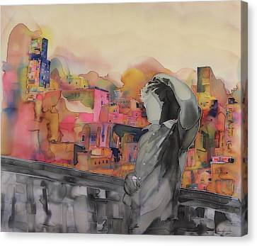Z And The City Canvas Print by Carolyn Doe