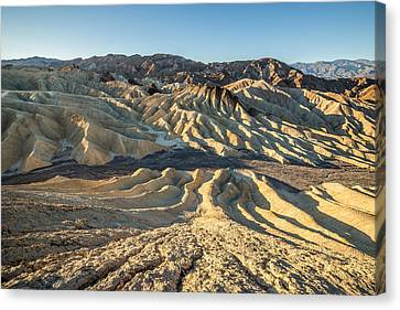Zabriskie Point Spectacular Mountains  Canvas Print by Pierre Leclerc Photography