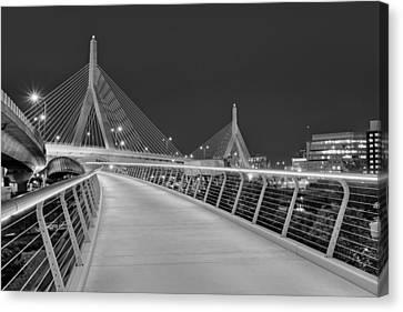 Zakim Bridge Bw Canvas Print by Susan Candelario