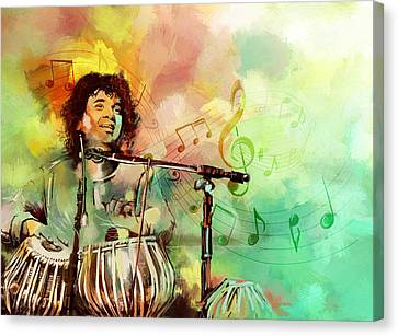 Zakir Hussain Canvas Print by Catf