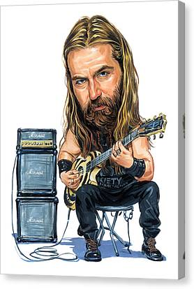 Zakk Wylde Canvas Print by Art