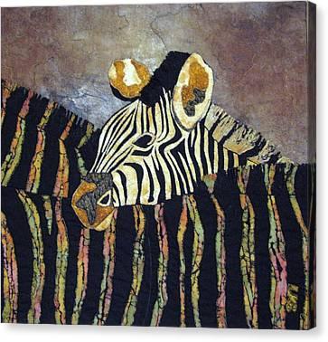 Zebra Baby Canvas Print by Lynda K Boardman