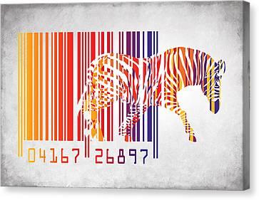 Zebra Barcode Canvas Print by Mark Ashkenazi