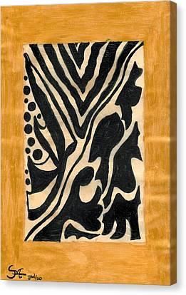 Zebra Canvas Print by Carla Sa Fernandes