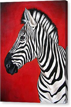 Zebra Canvas Print by Ilse Kleyn