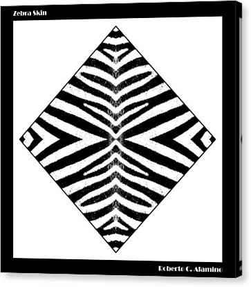 Zebra Skin Canvas Print by Roberto Alamino