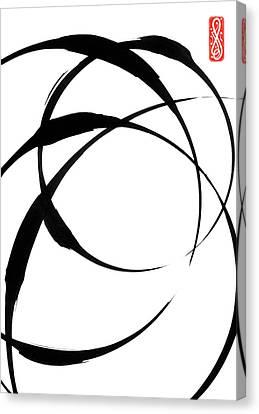 Zen Circles 4 Canvas Print by Hakon Soreide