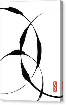 Zen Circles 5 Canvas Print by Hakon Soreide