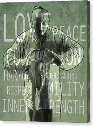 Zen Compassion Canvas Print by Dan Sproul