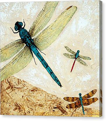 Zen Flight - Dragonfly Art By Sharon Cummings Canvas Print by Sharon Cummings