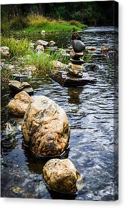 Zen River V Canvas Print by Marco Oliveira