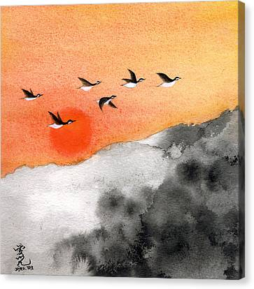 Zen Sunset Canvas Print by Oiyee At Oystudio