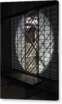 Zen Temple Window - Kyoto Canvas Print by Daniel Hagerman