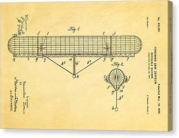 Zeppelin Navigable Balloon Patent Art 1899 Canvas Print by Ian Monk