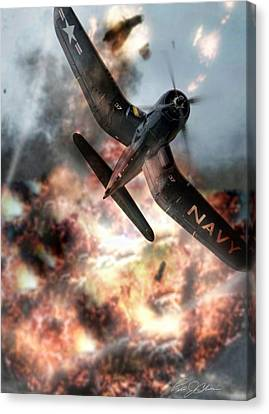 Zeroed In Whistling Death Canvas Print by Peter Chilelli