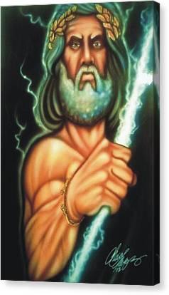 Zeus Canvas Print by Christopher Fresquez