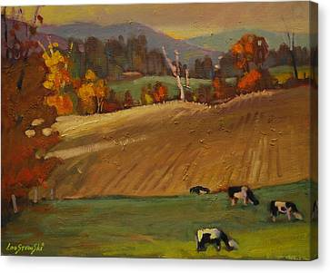 Ziemba Farm Canvas Print by Len Stomski