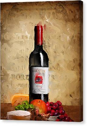 Zinfandel Iv Canvas Print by Lourry Legarde