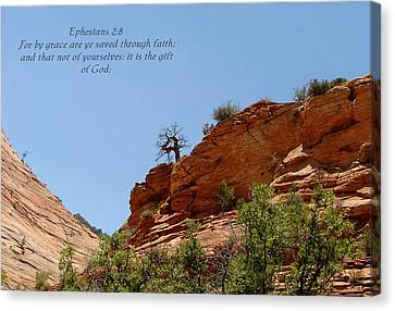 Zion  Eph 2-8 Canvas Print by Nelson Skinner