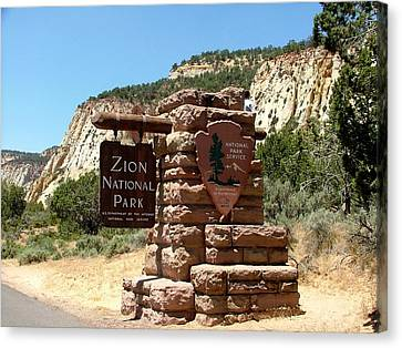 Zion N P 1 Canvas Print by Nelson Skinner