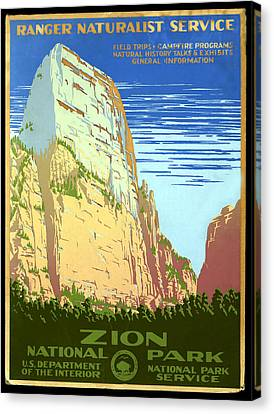Zion National Park Ranger Naturalist Service  Canvas Print by Unknown