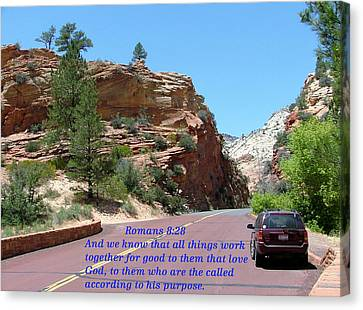 Zion Romans 8-28 Canvas Print by Nelson Skinner