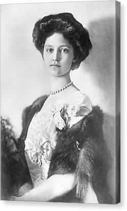 Zita  Hrh Empress Of Austria, Princess Of Bourbon And Parma, 1914 Canvas Print by Austrian School