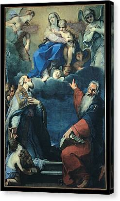 Zoboli Giacomo, Madonna And Child Canvas Print by Everett