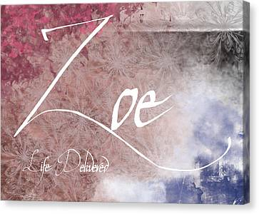 Zoe - Life Delivered Canvas Print by Christopher Gaston