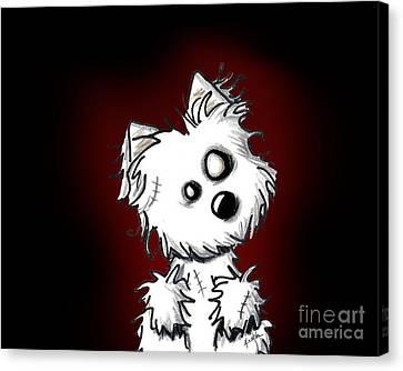 Zombie Dog Canvas Print by Kim Niles