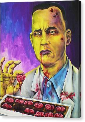 Zombie Gump By Mike Vanderhoof Canvas Print by Mike Vanderhoof