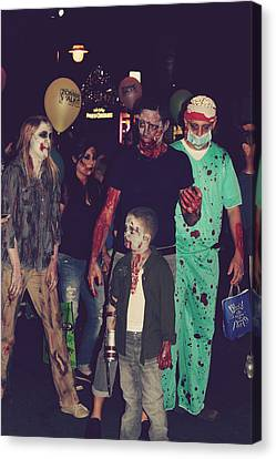 Zombies Everywhere Canvas Print by Laurie Search
