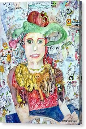 Zoo Tour Canvas Print by Barb Greene mann