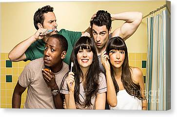 Zooey Deschanel New Girl Tv Show  Canvas Print by Marvin Blaine