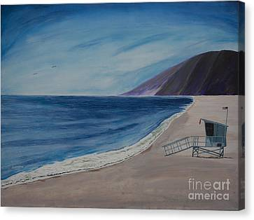 Zuma Lifeguard Tower #5 Canvas Print by Ian Donley