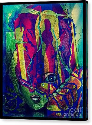 Zwangs-emanzipiert Canvas Print by Gertrude Scheffler