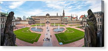 Zwinger Palace Designed By Matthaus Canvas Print by Panoramic Images
