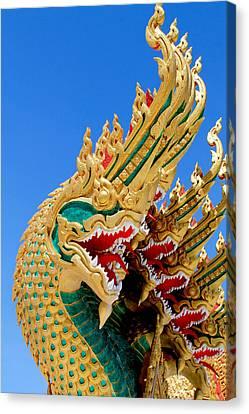 Asian Temple Dragon   Canvas Print by Panyanon Hankhampa