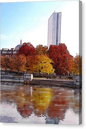 Back Bay Colors Canvas Print by Carl Licence