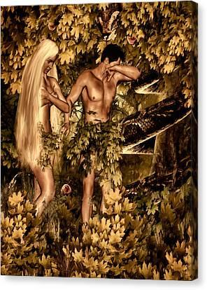 Birth Of Sin Canvas Print by Lourry Legarde