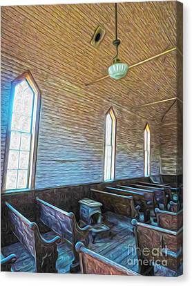 Bodie Ghost Town - Church 05 Canvas Print by Gregory Dyer