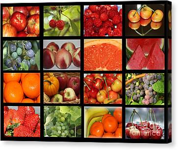Fruits Collage Canvas Print by Yumi Johnson