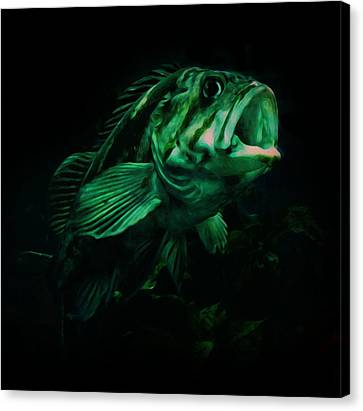 Green Fish Canvas Print by Veronica Ventress