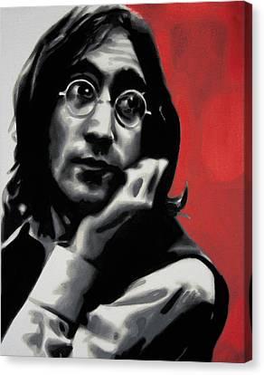 - Imagine - Red Detail - Canvas Print by Luis Ludzska