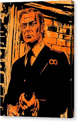 Michael Caine Canvas Print by Giuseppe Cristiano